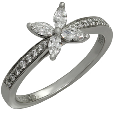 TIFFANY & CO. Victoria Diamond Platinum Ring