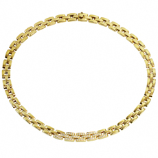 CARTIER Maillon Panthere Diamond 18k Yellow Gold Necklace