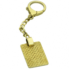 DUNHILL 18k Yellow Gold Keychain