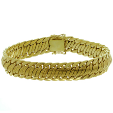 Vintage 18k Yellow Gold Braided Bracelet