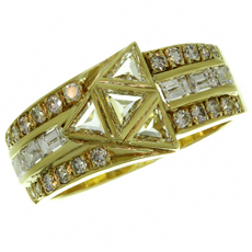 Vintage TOLIBO Diamond 18k Yellow Gold Ring