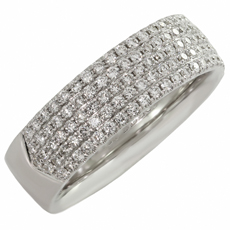 TIFFANY & CO. Metro Diamond 18k White Gold Band Ring