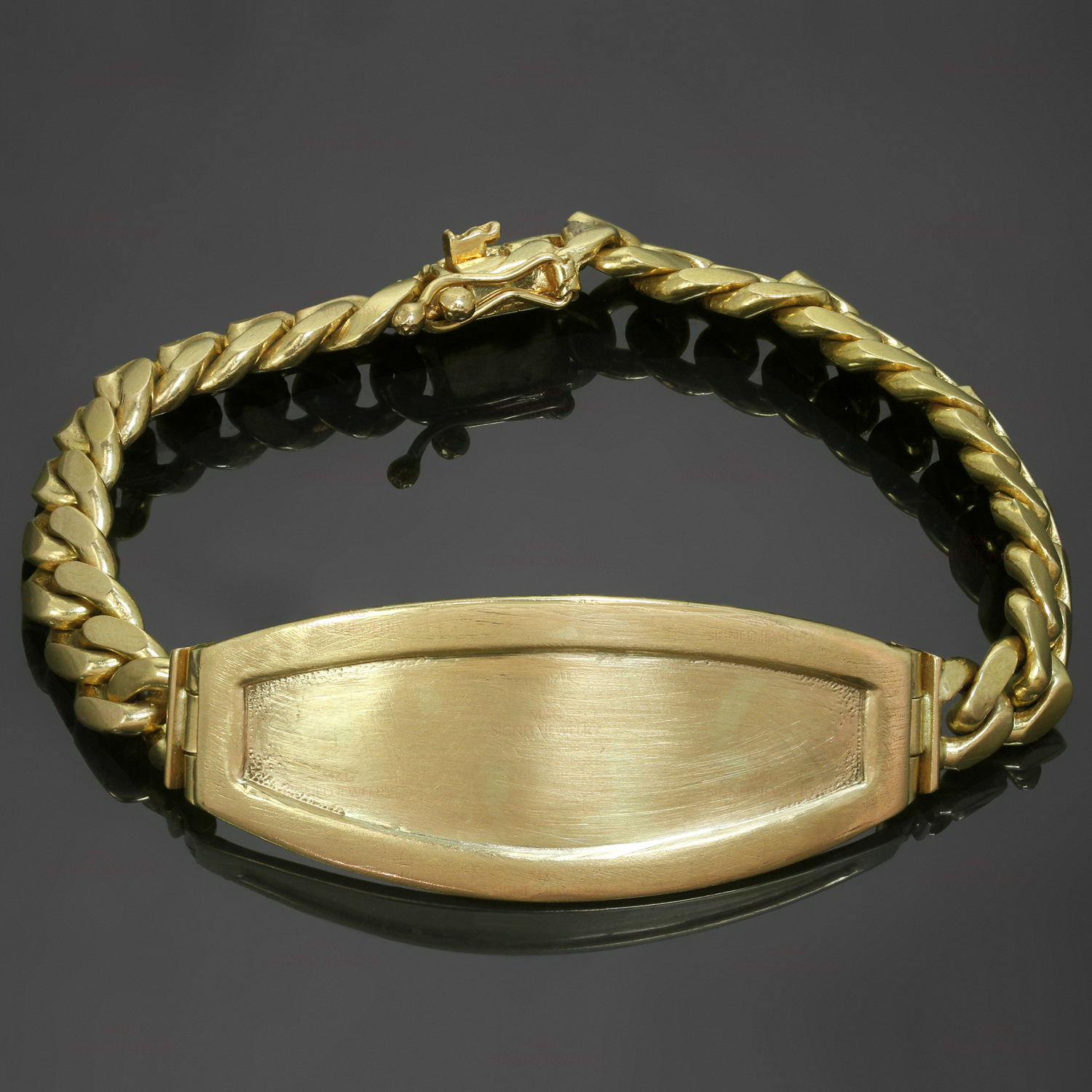 14k Yellow Gold Unisex ID Bracelet