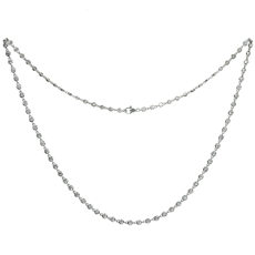 VAN CLEEF & ARPELS Diamond By The Yard 18k White Gold Necklace