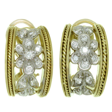 SEIDENGANG Diamond 18k Yellow Gold Wrap Earrings