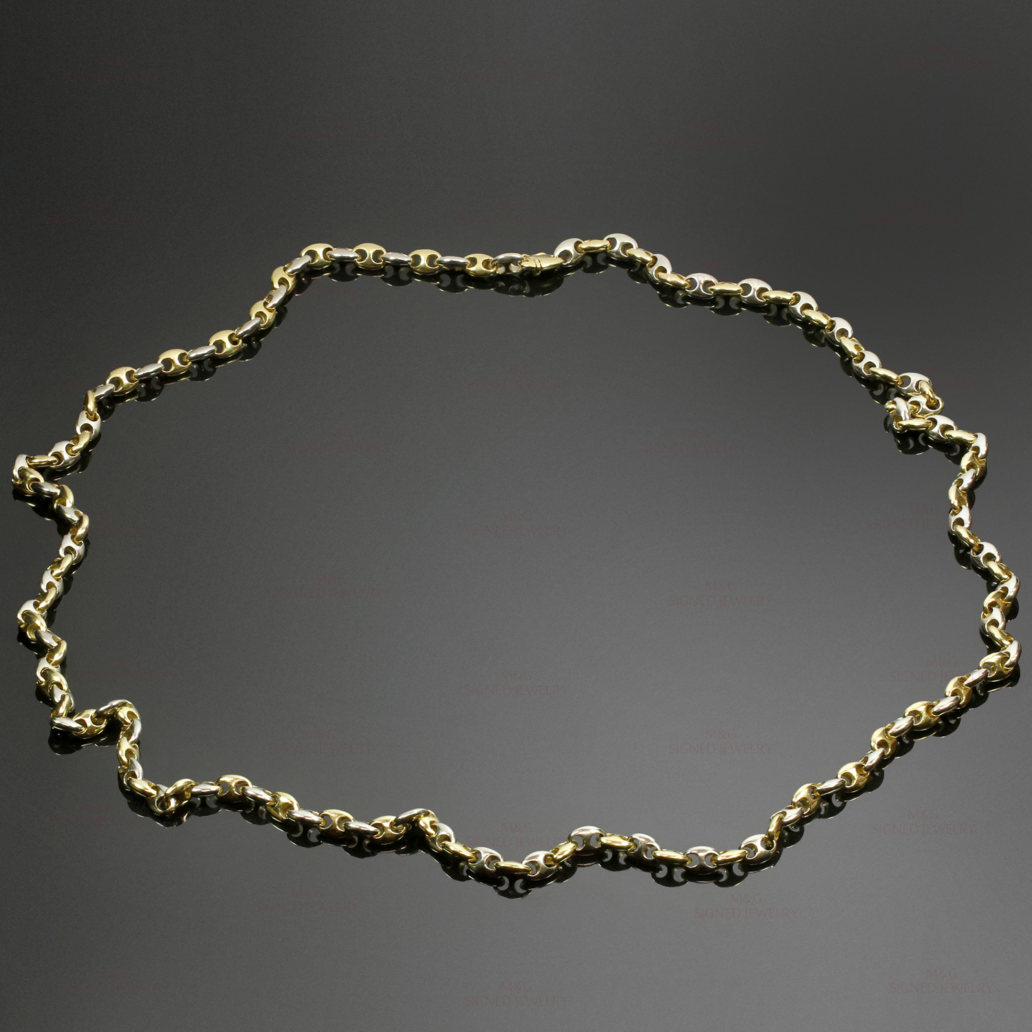 CARTIER 18k Two-Tone Gold Mariner Link Long Chain Unisex Necklace