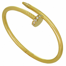 CARTIER Juste un Clou Diamond 18k Yellow New Model Bracelet Size 16 Box Receipt