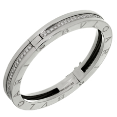 BULGARI B.Zero1 Diamond 18k White Gold Medium Bracelet