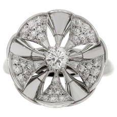 BULGARI Divas' Dream Diamond 18k White Gold Flower Ring