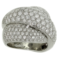 DAMIANI Gomitolo Diamond 18k White Gold Ring