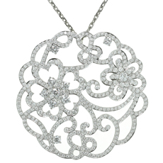 VAN CLEEF & ARPELS Dentelle Diamond 18k White Gold Neckalce