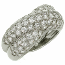 VAN CLEEF & ARPELS Entrelacs Diamond 18k White Gold Ring