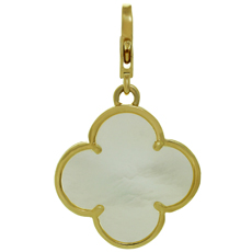 VAN CLEEF & ARPELS Alhambra Mother-Of-Pearl 18k Yellow Gold Large Pendant