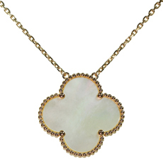 VAN CLEEF & ARPELS Magic Alhambra Mother-of-Pearl 18k Rose Gold Extra Large Pendant Necklace