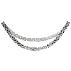 CARTIER Maillon Panthere Diamond White Gold Necklace with Certificate