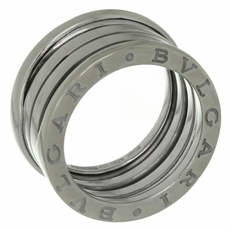 BULGARI B.Zero1 3-Band 18k White Gold Ring