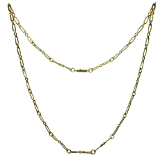 CARTIER 18k Yellow Gold Long Link Chain Necklace