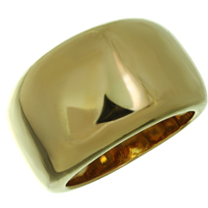 CARTIER Nouvelle Vague 18k Yellow Gold Domed Ring Band