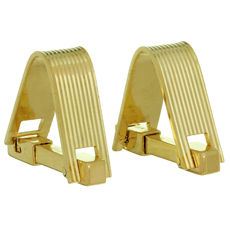 MAUBOUSSIN 18k Yellow Gold Stirrup Cufflinks