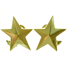 TIFFANY & CO. Angela Cummings 5 Pointed Star 18k Yellow Gold Clip-on Earrings