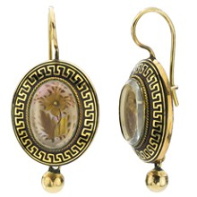Victorian Genuine One-of-Kind 14k Yellow Gold Earrings