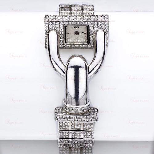 VAN CLEEF & ARPELS Cadenas 18k White Gold Diamond Watch
