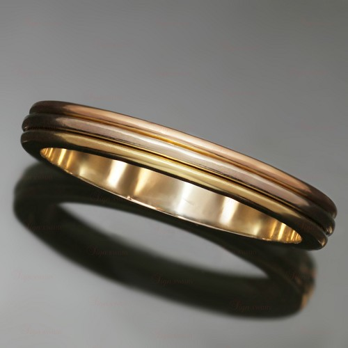 CARTIER 18k Tri-Gold Size 58 Wedding Band Ring