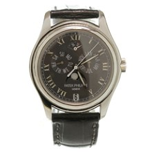PATEK PHILIPPE Swiss Automatic Leather Platinum Watch