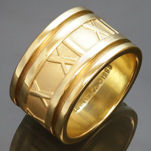 TIFFANY & CO. Atlas 18k Yellow Gold Band Size 6 Ring