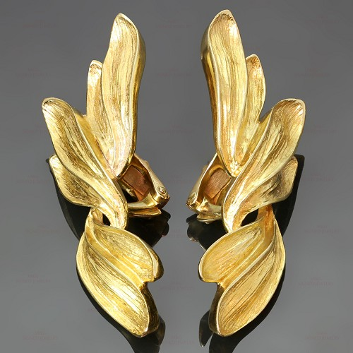 MARAMENOS & PATERAS 18k Yellow Gold Clip-on Earrings