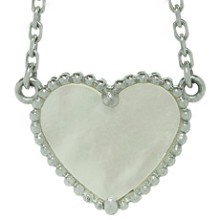 VAN CLEEF & ARPELS Mother-of-Pearl 18k White Gold Heart Necklace