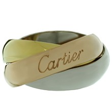 CARTIER Trinity 18k Tri-Gold Large Model Ring