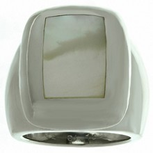 VAN CLEEF & ARPELS Babylon Mother-of-Pearl 18k White Gold Ring