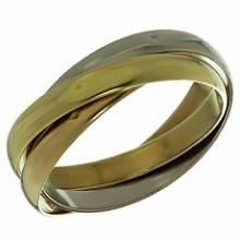 CARTIER Trinity 18k Tri-Gold Bangle Bracelet