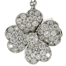 VAN CLEEF & ARPELS Cosmos Medium Clip Pendant Necklace $25300