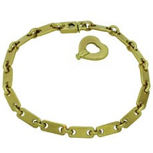 CARTIER Fidelity 18k Yellow Gold Heart Key Bar Link Bracelet