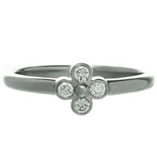 TIFFANY & CO. Diamond Platinum Lace Flower Ring