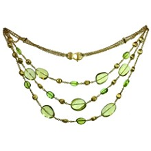 MARCO BICEGO Confetti Citrine & Peridot 18k Yellow Gold Multistrand Necklace