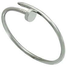 CARTIER Juste Un Clou 18k White Gold Bangle Bracelet Size 18 Box Papers