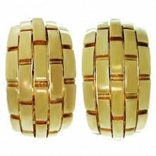 CARTIER Maillon Panthere 18k Yellow Gold Wrap Earrings