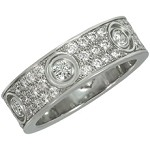 CARTIER Love Diamond 18k White Gold Ring Box Papers