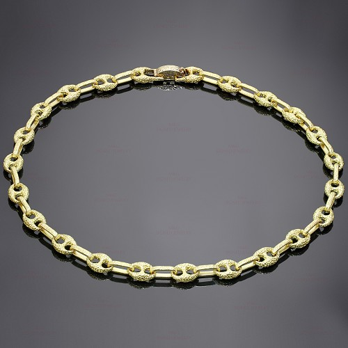 GUCCI Solid 18k Yellow Gold Link Necklace