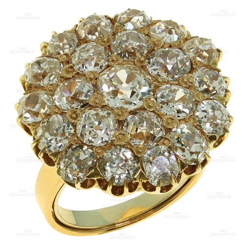 Antique Diamond 18k Rose Gold Dress Ring